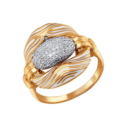 Кольцо SOKOLOV из золота с эмалью с бриллиантами кольцо с бриллиантами из розового золота valtera 70058