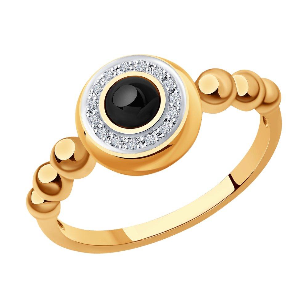 Кольцо SOKOLOV из золота с бриллиантами и наношпинелью