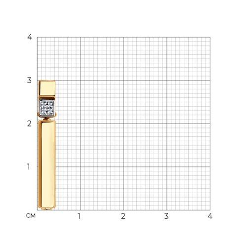 Подвеска из золота с бриллиантами и керамической вставкой 6035072 SOKOLOV фото 2