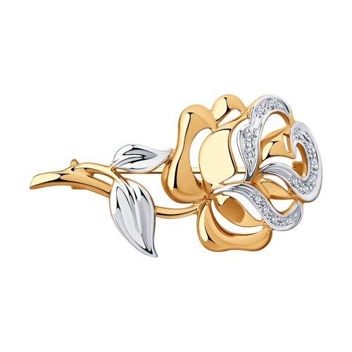 Брошь «Роза» с бриллиантами