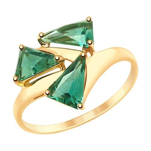 Кольцо из золота с кварцем (715188) - фото