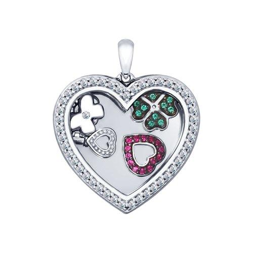 Подвеска из серебра «Сердце» (94031947) - фото