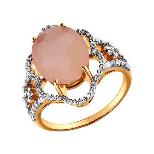 Кольцо с агатом золотое SOKOLOV золотое кольцо ювелирное изделие 01k623290