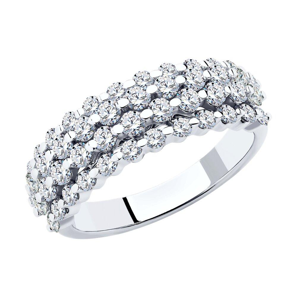 Кольцо SOKOLOV из белого золота с бриллиантами кольцо с бриллиантами из розового золота valtera 43925