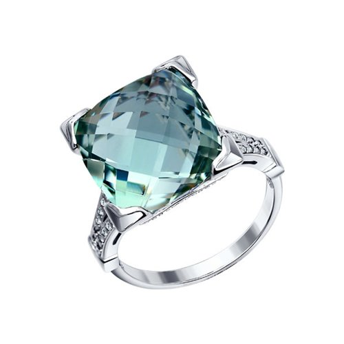 Серебряное кольцо с крупным кварцем