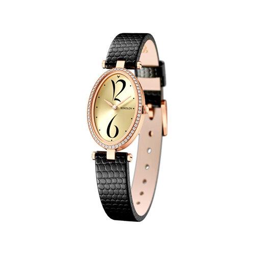 Женские золотые часы (236.01.00.100.06.01.2) - фото