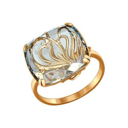 Кольцо из золота с кварцем
