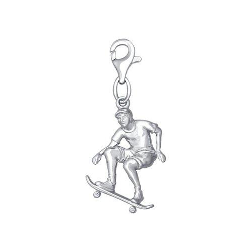 цена на Подвеска из серебра «Скейт»