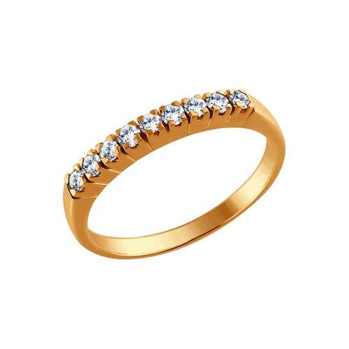 Золотое кольцо с бриллиантами (1010030) - фото