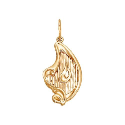 Подвеска SOKOLOV из золота с алмазной гранью «Арфа»