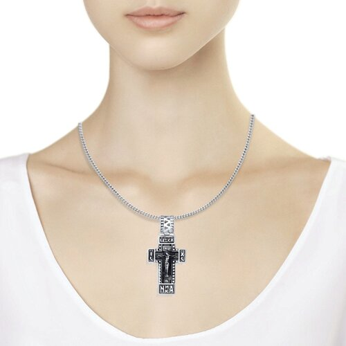 Крест из чернёного серебра (95120050) - фото №3