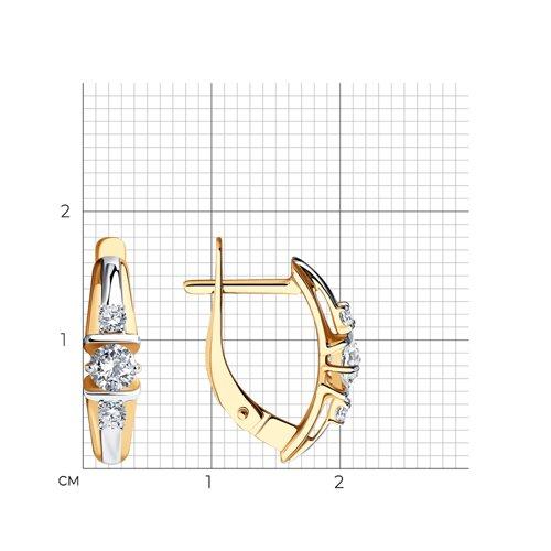 Серьги из золота с фианитами 027944 SOKOLOV фото 2