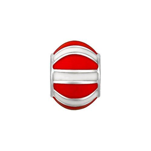 Подвеска c красно-белой эмалью