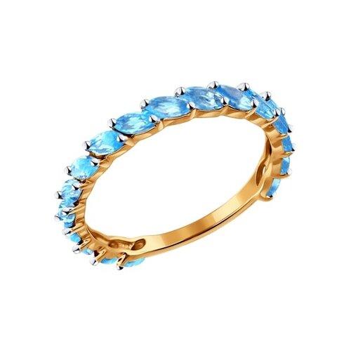 Кольцо из золота с топазами