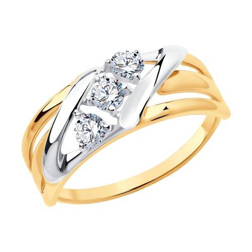 Кольцо из золота с фианитами 017640 SOKOLOV фото