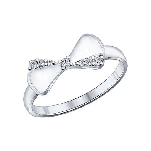 Кольцо из серебра с бантиком
