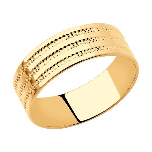 Кольцо из золота (111220) - фото
