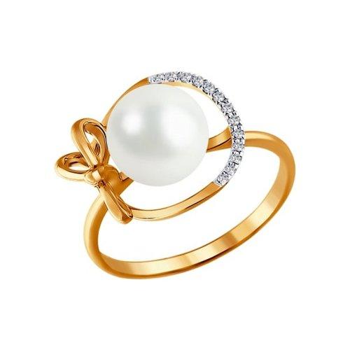 Кольцо SOKOLOV из золота с бриллиантами и жемчугом все цены