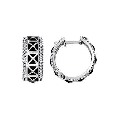 Серебряные серьги «Геометрия» SOKOLOV