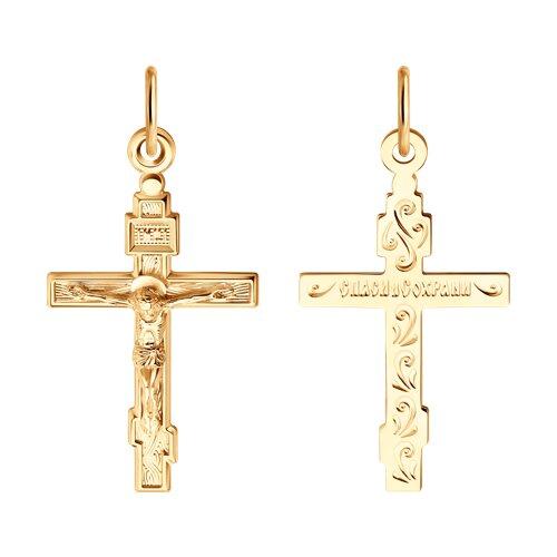 Крест SOKOLOV из золота фото