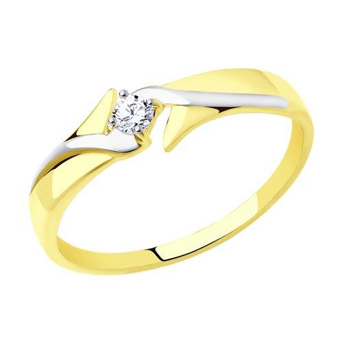 Кольцо из желтого золота (017282-2) - фото