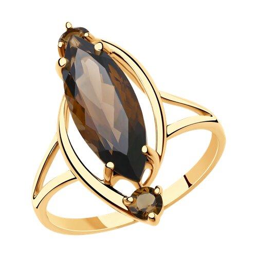 Кольцо из золота с раухтопазами (715929) - фото