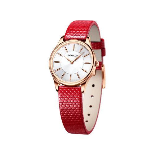 Женские золотые часы (238.01.00.000.04.03.2) - фото