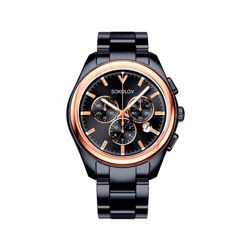 Мужские часы из золота и стали Black Edition (139.01.72.000.03.01.3) - фото №2