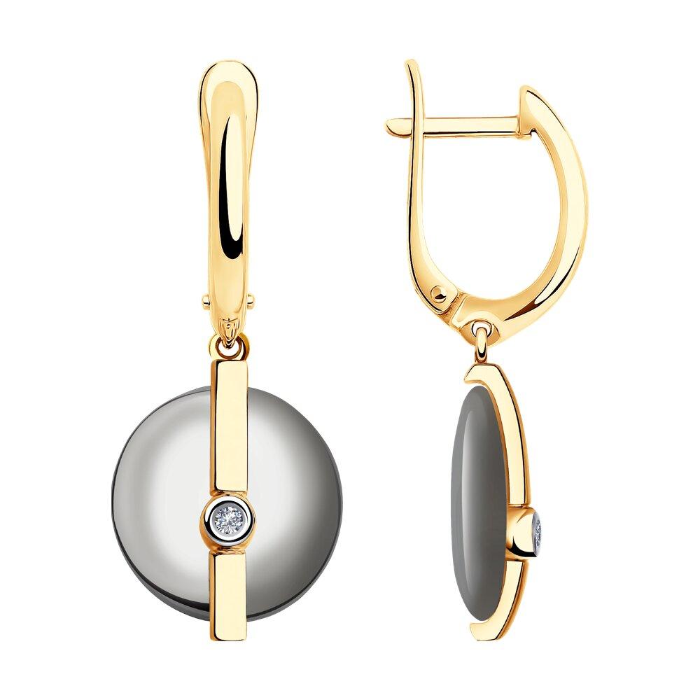 Серьги SOKOLOV из золота с бриллиантами и фото
