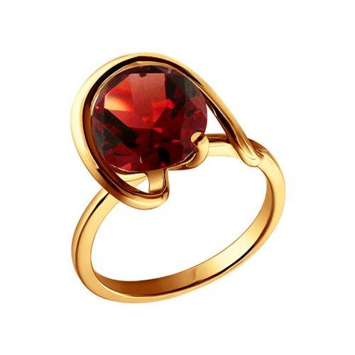 Золотое кольцо с гранатом SOKOLOV золотое кольцо ювелирное изделие 01k626002