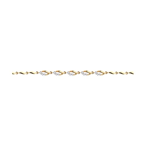Браслет из золота с фианитами (051074) - фото