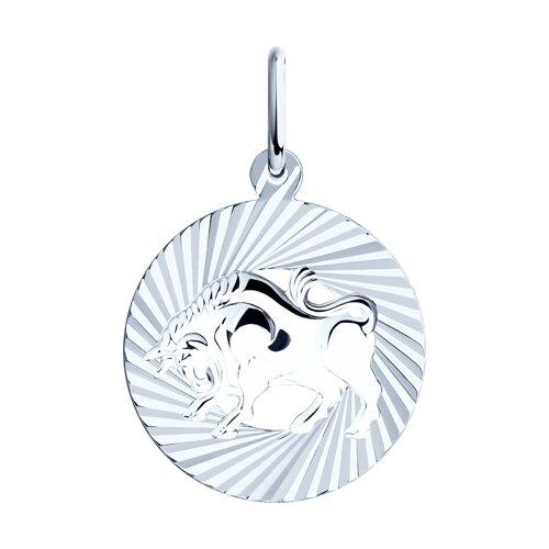 Подвеска «Знак зодиака Телец» SOKOLOV из серебра