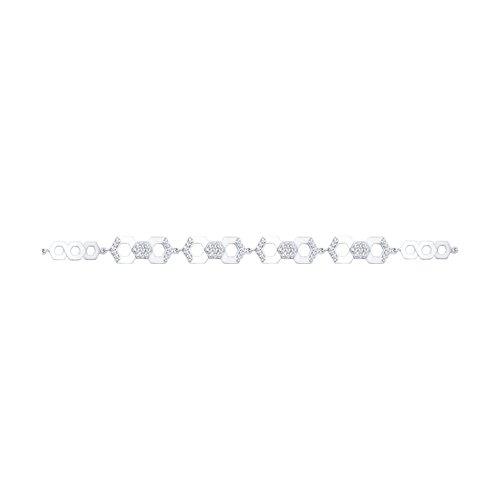 Браслет из серебра с фианитами (94050388) - фото