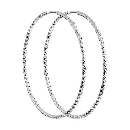 Серьги конго SOKOLOV из серебра с алмазной гранью фото
