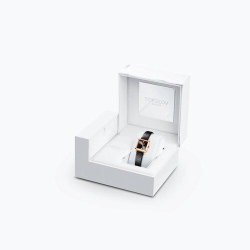 Женские золотые часы (231.01.00.000.07.01.2) - фото №4
