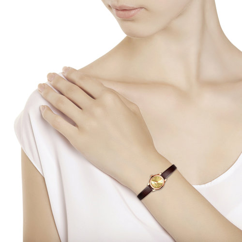 Женские золотые часы (211.01.00.000.02.03.3) - фото №3