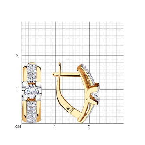 Серьги из золота с фианитами 028837 SOKOLOV фото 2