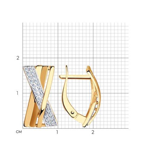Серьги из золота с фианитами 028508 SOKOLOV фото 2
