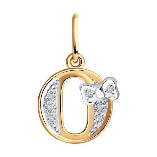 Золотая подвеска-буква «О»