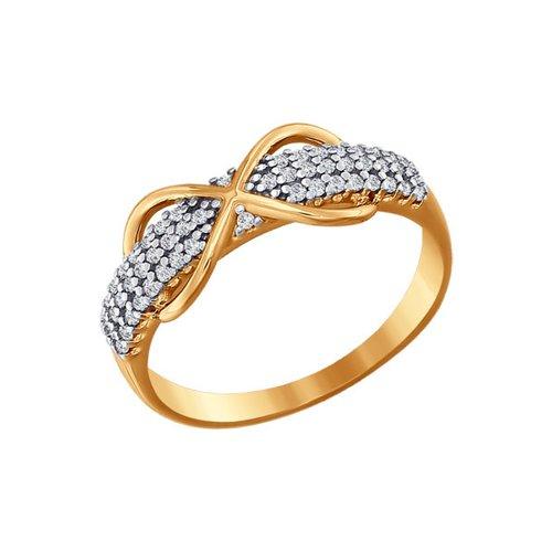 Золотое кольцо «Бесконечность» золотое кольцо ювелирное изделие 01k684711ul