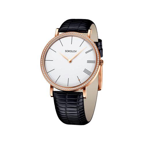 Женские золотые часы (210.01.00.100.01.01.2) - фото