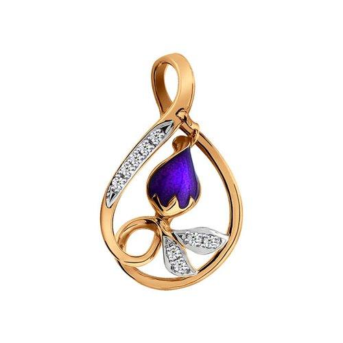 Подвеска из золота с эмалью с бриллиантами