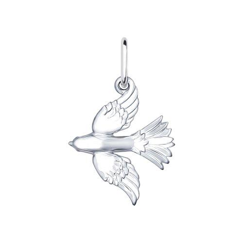 Подвеска «Птица»  из серебра (94031777) - фото
