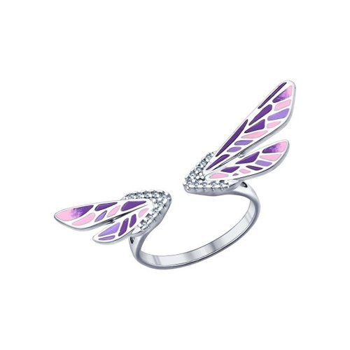 Кольцо «Мотылёк» из серебра