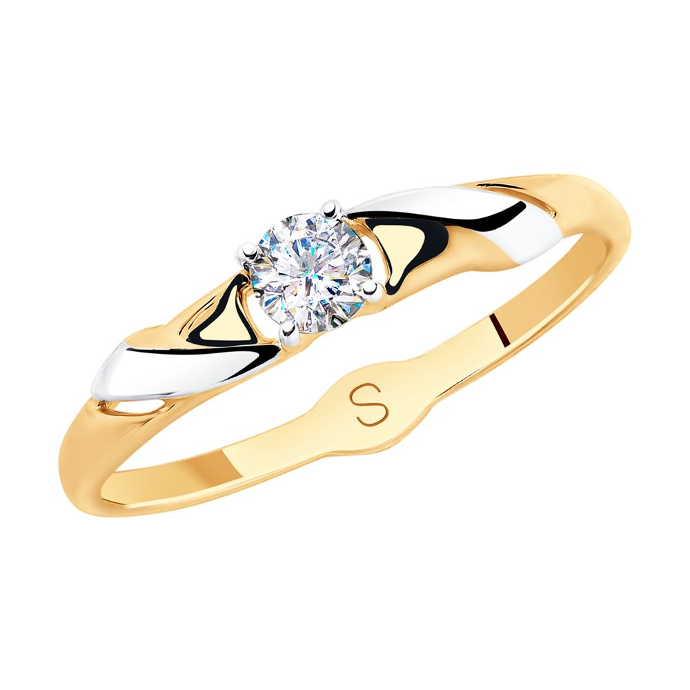 Кольцо SOKOLOV из золота с фианитом фото