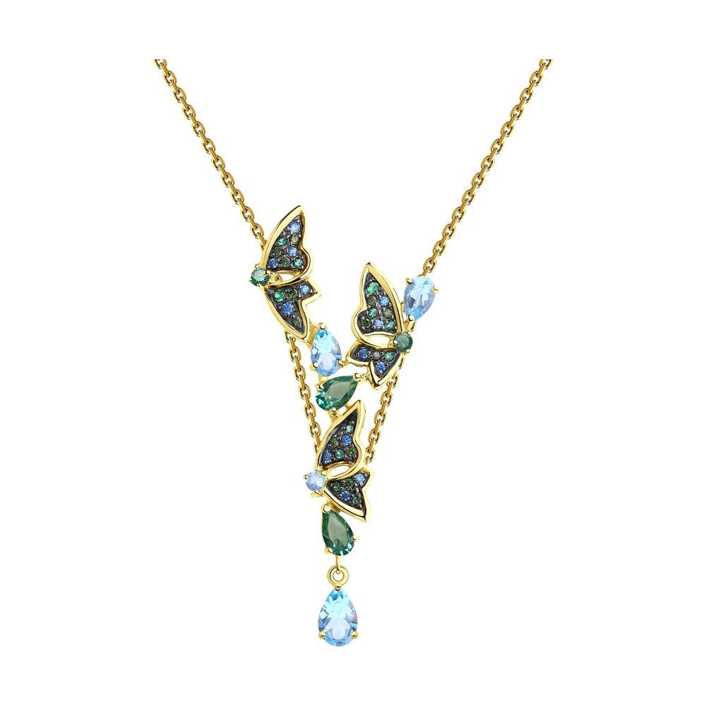 Колье SOKOLOV из желтого золота с топазами и колье с топазами и бриллиантами из желтого золота valtera 69493