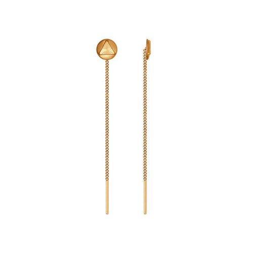 Серьги-цепочки SOKOLOV из золота с алмазной гранью цепочки sokolov 968170350 s