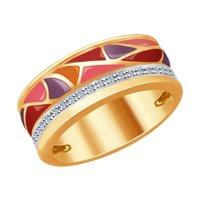 Кольцо из золота с эмалью и бриллиантами