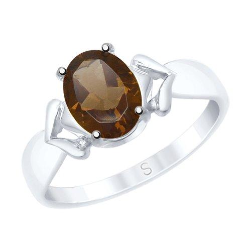Кольцо из серебра с раухтопазом (92011539) - фото