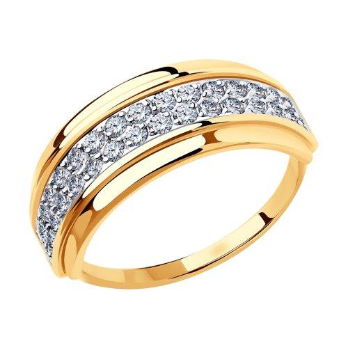 Кольцо из золота с фианитами 018443 sokolov фото